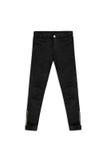 Pantaloni neri del jacquard del modello, isolati su fondo bianco Immagine Stock Libera da Diritti