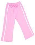 Pantaloni, pantaloni del bambino su priorità bassa. Fotografie Stock