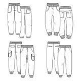 pantaloni profilo Immagini Stock