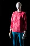 Pantaloni rosa del turchese e della maglietta felpata Immagine Stock Libera da Diritti
