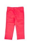Pantaloni rossi del bambino Fotografia Stock