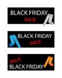 Pantaloni sulle insegne di una vendita di Black Friday Immagine Stock
