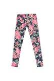 Pantaloni variopinti dei jeans con la stampa del fiore Fotografia Stock Libera da Diritti