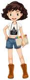 Pantaloni a vita bassa della ragazza illustrazione vettoriale