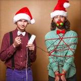 Pantaloni a vita bassa di Natale Immagini Stock