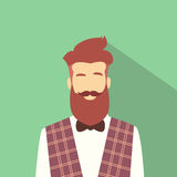 Pantaloni a vita bassa maschii dell'avatar dell'icona di profilo dell'uomo di affari Immagine Stock