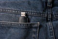 Pantalons avec de la mémoire d'USB Image libre de droits