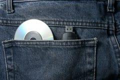 Pantalons avec du Cd et l'usb Image libre de droits