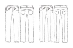 Pantalons longs de denim Photos libres de droits