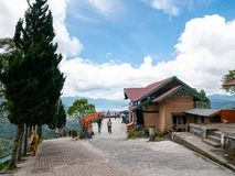 Pantan Terong Takengon, Aceh Tengah: Άποψη από την κορυφή του Hill που αντιμετωπίζει τη λίμνη, λίμνη Lut Tawar Στοκ εικόνα με δικαίωμα ελεύθερης χρήσης