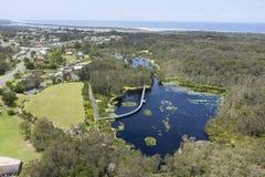 Pantanais de Urunga, Novo Gales do Sul imagem de stock