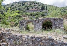Pantanassa拜占庭式的修道院米斯特拉斯 免版税库存照片