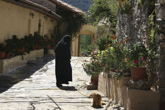 Pantanassa Monastery - Women's convent. Mystras - The Monastery of Our Lady Panagia Pantanassa (Queen of all) is a women's convent founded in the 15th century Stock Image