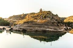 Pantano Alarcon Spanien stockbild