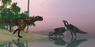 Pantano del dinosaurio Imágenes de archivo libres de regalías