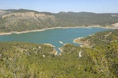 Pantano Montanejos, España de Arenoso o Campos fotos de archivo libres de regalías