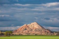 Pantano y las montañas negras, slagheap Foto de archivo libre de regalías