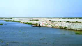 Pantanos mesopotámicos, hábitat de Marsh Arabs aka Madans Basra Iraq Fotos de archivo