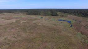 Pantanos y pantanos, reserva de Obara, cantidad aérea metrajes