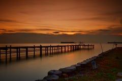 Pantara-Sonnenuntergang Lizenzfreie Stockfotos