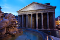 Panteón en la salida del sol, Roma, Italia Imágenes de archivo libres de regalías