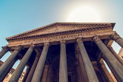 Panteón en Roma Imagen de archivo libre de regalías