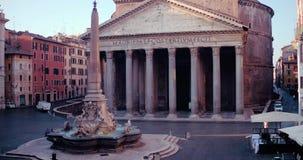 Panteón en Roma almacen de metraje de vídeo