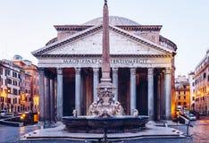 Panteón, templo romano anterior de todos los dioses, ahora una iglesia, y Fou Fotografía de archivo libre de regalías