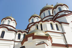 Panteleimon Cathedral of the New Athos monastery in Abkhazia Royalty Free Stock Photo