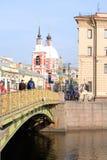 Panteleimon most przez Fontanka rzekę obrazy royalty free