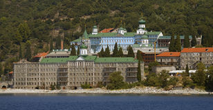 Pantelemon monastery. In Athos at summer Stock Photography