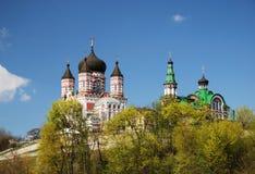 The Panteleymonovsky cathedral in Feofaniya Stock Photos