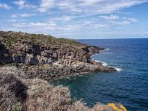 Pantelleria, Italien K?ste und Klippe stockfotografie