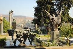 Panteón de Mtatsminda en Tbilisi, Georgia Imagen de archivo libre de regalías