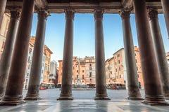 Panteon di mattina, Roma, Italia, Europa fotografie stock libere da diritti