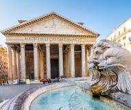 Panteon di mattina, Roma, Italia, Europa immagine stock