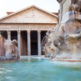 Panteon di mattina, Roma, Italia, Europa fotografie stock
