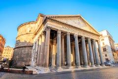 Panteon di mattina, Roma, Italia, Europa fotografia stock libera da diritti
