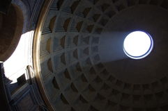 Panteon. The dome of the Pantheon in Rome in Italy. Rome Royalty Free Stock Photography