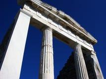 Panteon i Delos, Grekland Royaltyfri Fotografi