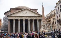 Panteon i jego obelisk w Rzym Obrazy Royalty Free