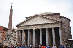Panteon i jego obelisk w Rzym Zdjęcia Royalty Free
