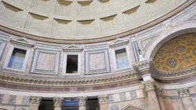Panteon inre italy rome lager videofilmer