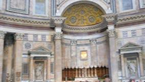 Panteon inre italy rome arkivfilmer