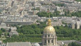 Panteon a Parigi veduta dall'aereo video d archivio