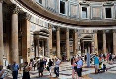 Panteon piazzadella Rotonda, Rome Royaltyfria Bilder
