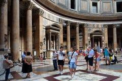 Panteon piazzadella Rotonda, Rome Arkivbild