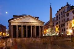 Panteon przy noc Zdjęcie Royalty Free