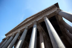 Panteon of Rome. The entrance Royalty Free Stock Photos