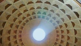 Panteon Rome Italien Gudar för tempel allra, de mest berömda ställena i Italien arkivfilmer